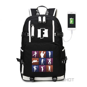 Fortnite Battle Royale Backpack - School Bag - USB Charging  Laptop - LED -Glowing!