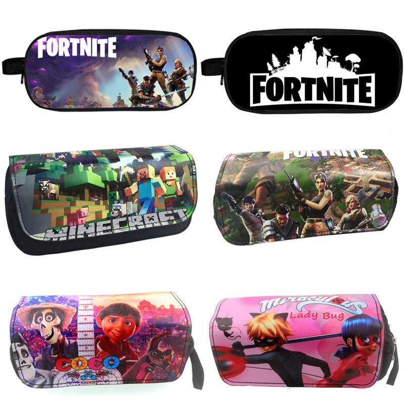 Miraculous Ladybug - Minecraft Movie - COCO - Roblox - Fortnite - Pencil Bag - Kids Party Gift