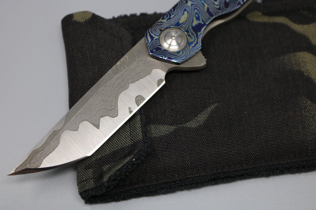 Nova Blades Kwaiken with Timascus & Damascus Hardware and scale