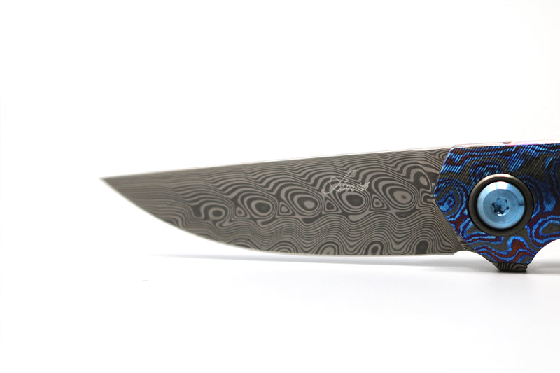 Anso of Denmark Orso With Damasteel Blade an Black Timascus Handle