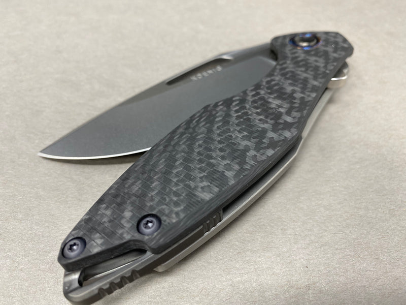 Koenig Arius Style 57 Milling Polished Flats Timascus Pivot Collar & DLC Hardware and Clip #1 of 1