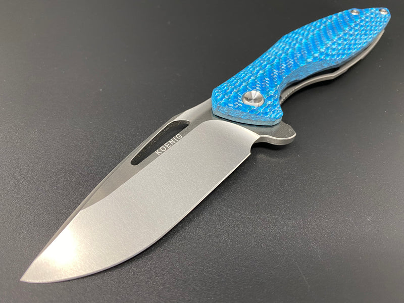 Koenig Arius Gen 4 Teal Carbon Twill Hand Rubbed Flats & Burnished Blade