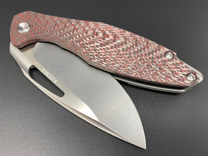 Arius Patterned Red Twill