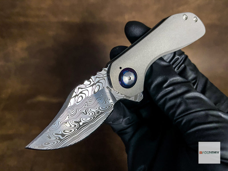 SDKnives Termite Damasteel