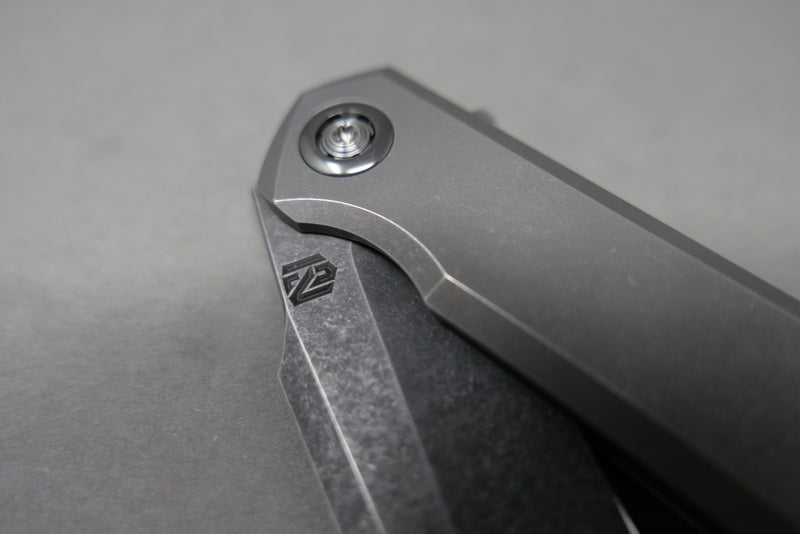 NCCKnives MK1 Stonewashed Blade with Zirc Collar & backspacer
