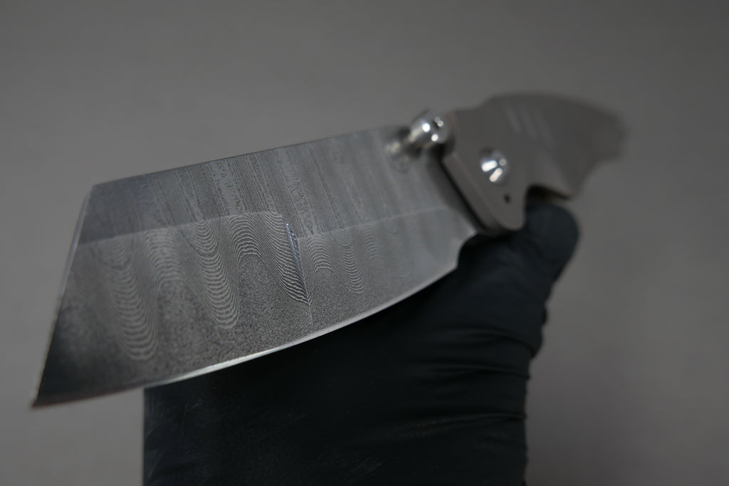 Scorpion Six Overfall #5 Spirograph Damascus Contoured & Milled Handles