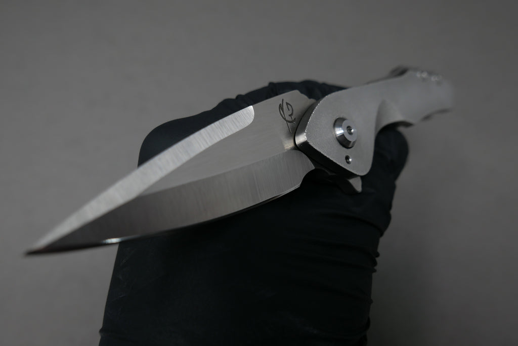 Scorpion Six Veps #13 Satin Blade with Raw Ti Twist Handles