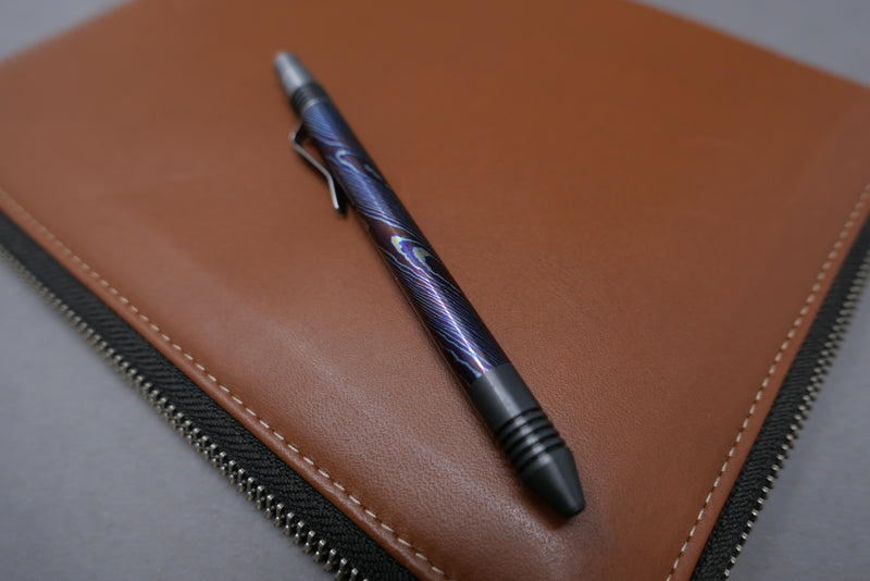 MCM Pen Zirconium and Color Moku-Ti, with Machined Clip, # 25
