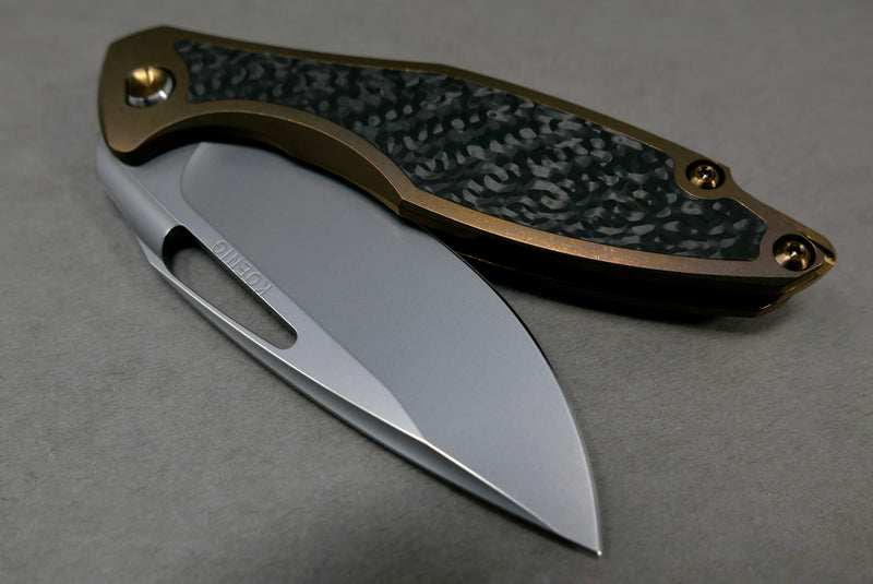Arius Flipper Delete Burnished Blade Bronze Ano Handles & hardware