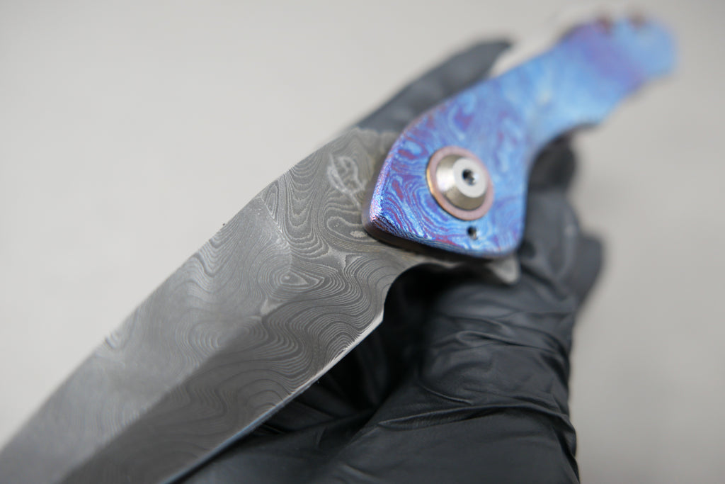 Scorpion Six Veps #18 Chad Nichols HXP Armor Core Blade Sculpted drop point blade Timascus Handles