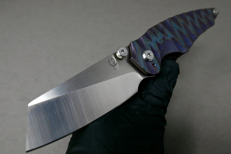 Nova Blades Mini GT S30V Blade with Timascus Scale