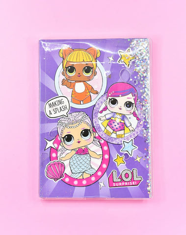 Premium LoL Splash Glittery Water in Soft Cover Journal
