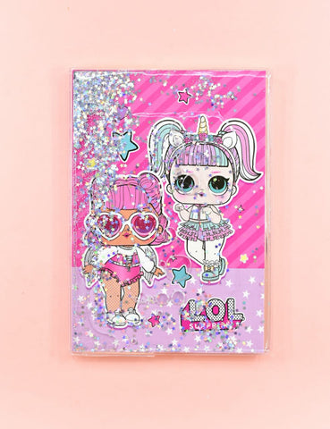 Premium Lol II Glittery Water in Soft Cover Journal