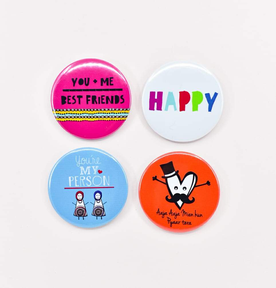 All The Happy Vibes Badges