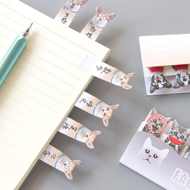 Cat & Dog Memo Pad Sticky Notes