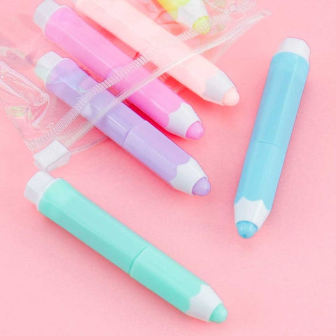 Cute Pencil Highlighter Set of 6