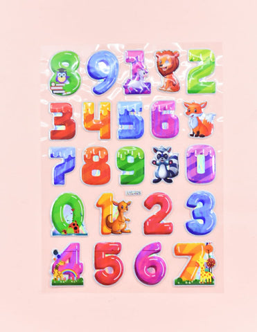 Retro Counting Decoration Stickers