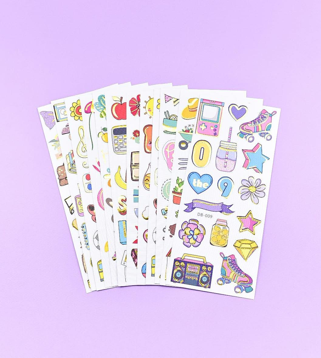 Sugar Rush  Gold Foil Planner Decoration Stickers