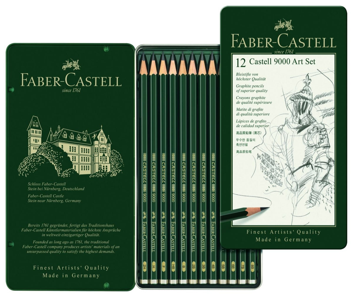 Faber Castell Castell 9000 Graphite Pencil Set of 12