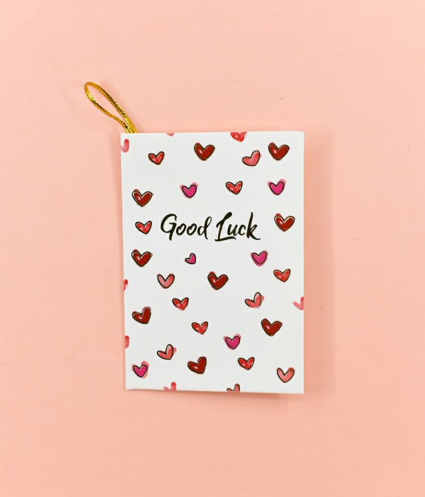 Good Luck! (Hearts) - Gift Card