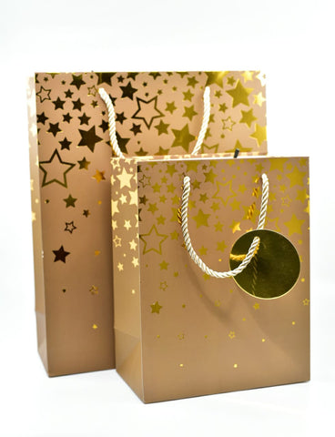 Dream Star Brown Gold Foil Gift Bag