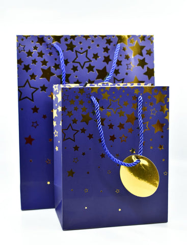 Dream Star Blue Gold Foil Gift Bag