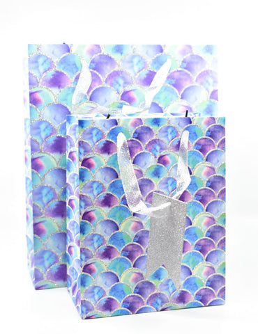 Dream Blue Mermaid Glitter Gift Bag