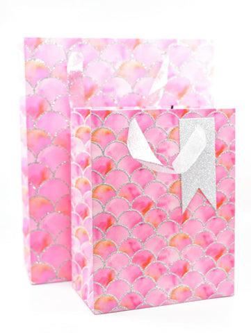 Dream Pink Mermaid Glitter Gift Bag