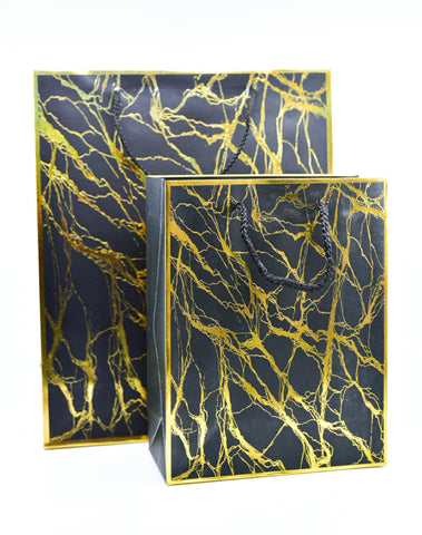 Marble Black Gold Foil Gift Bag