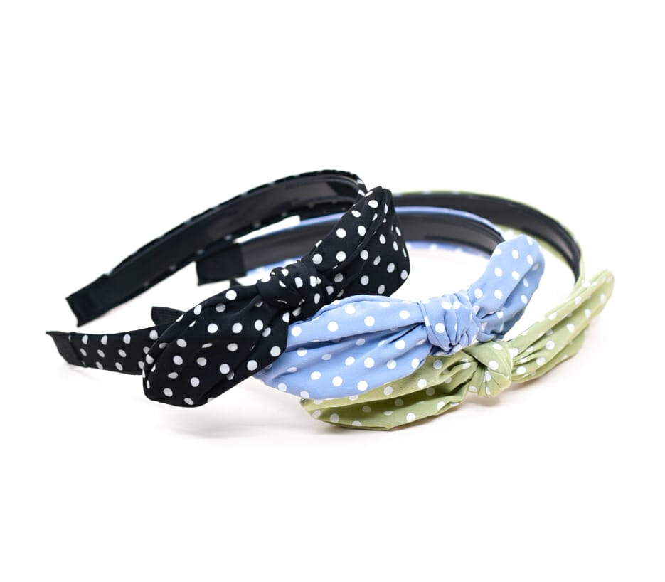 Mini Polka Dot Knotted Alice Headband