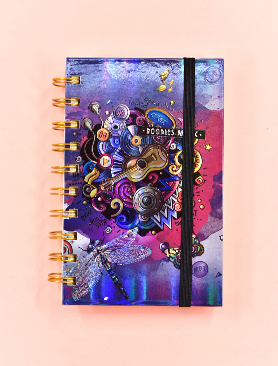 Doodles Music Embossed - Journal