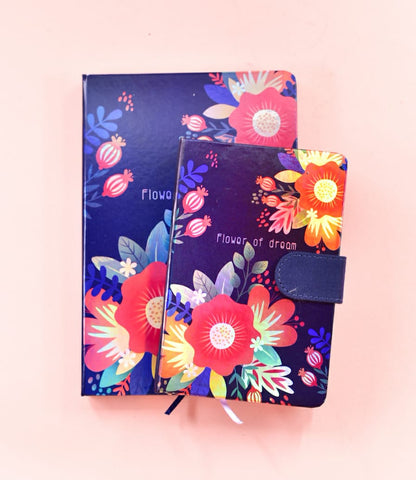 Purple - Flower of Dream HoloNeon Premium Hard Cover Journal