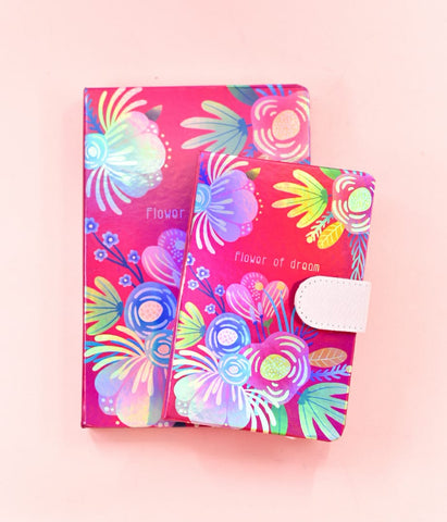 Pink - Flower of Dream HoloNeon Premium Hard Cover Journal