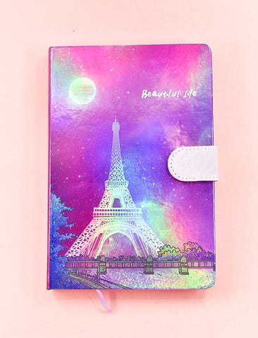 Eiffel Tower HoloNeon Premium Hard Cover Journal