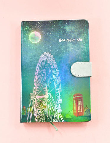 London Eye HoloNeon Premium Hard Cover Journal