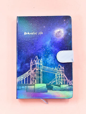 London Bridge HoloNeon Premium Hard Cover Journal
