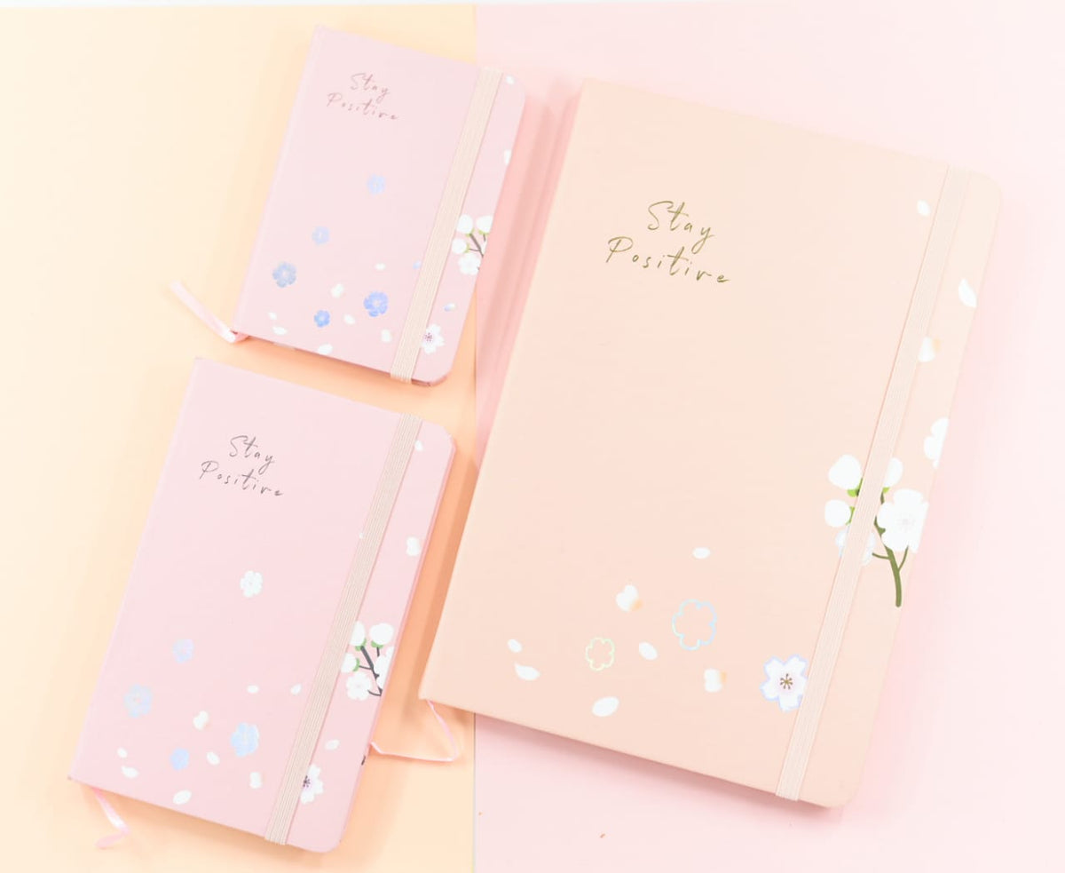 Stay Positive Cherry Blossom - Journal