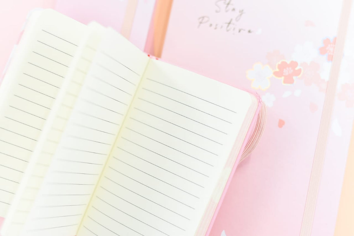 Pink Stay Positive - Journal
