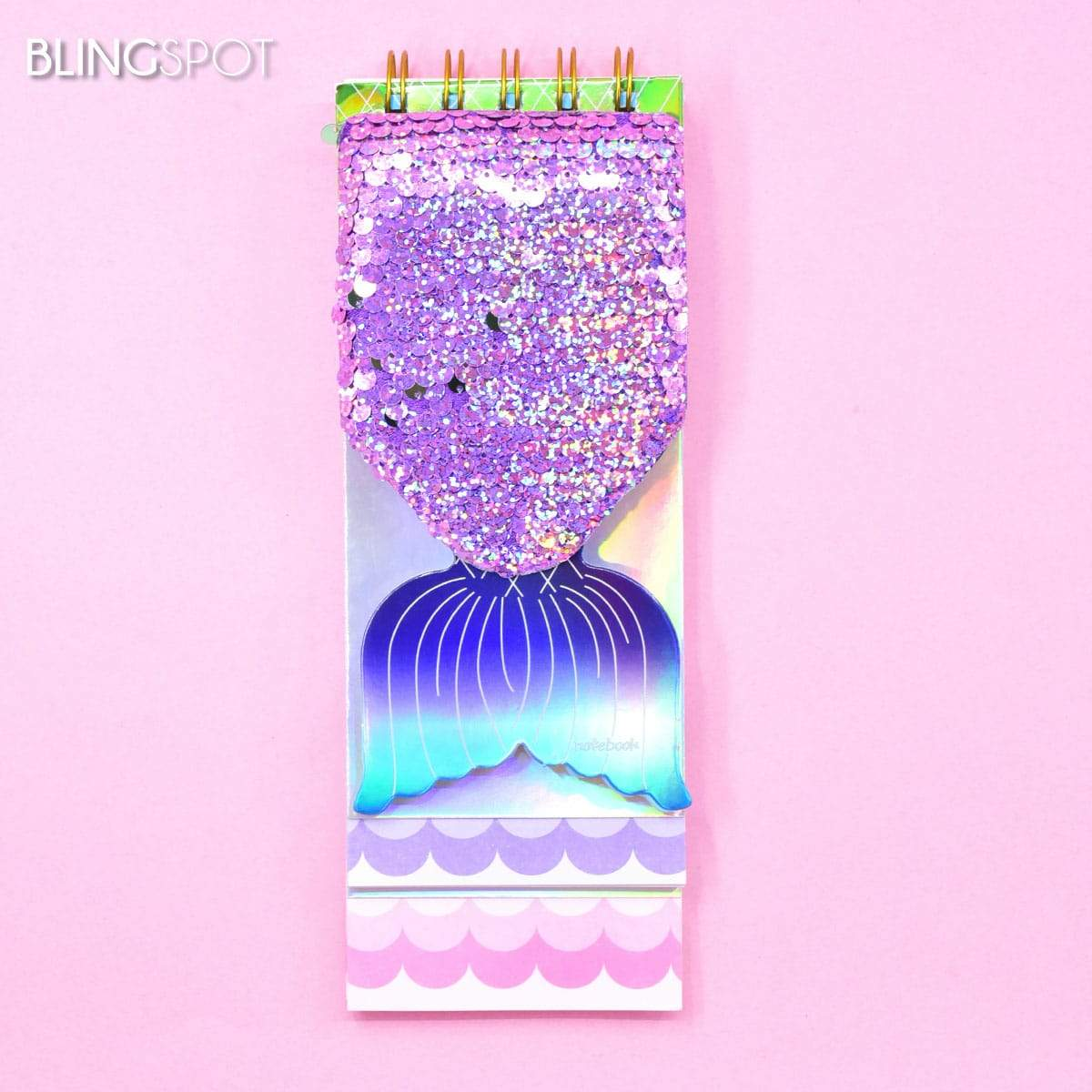 Mermaid Purple  Sequin Notepad