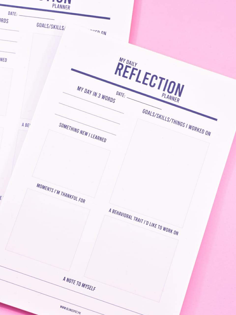 My Daily Reflection Planner - Notepad