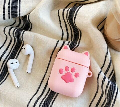 Pink Cat Paw Air Pod 2 Cover