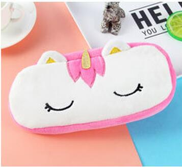 Pink Unicorn Plush Pouch