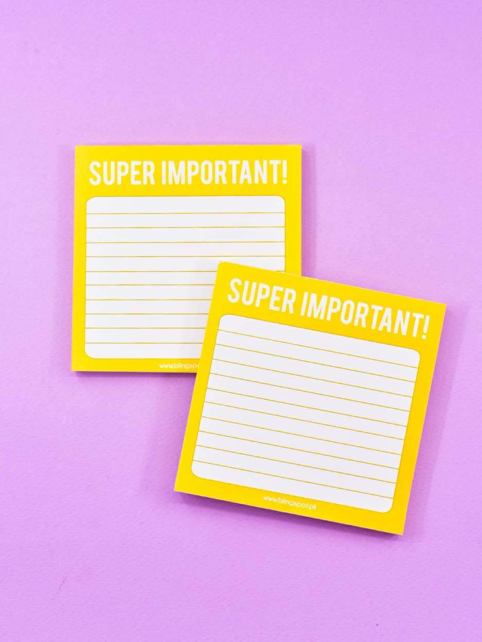 Super Important - Notepad