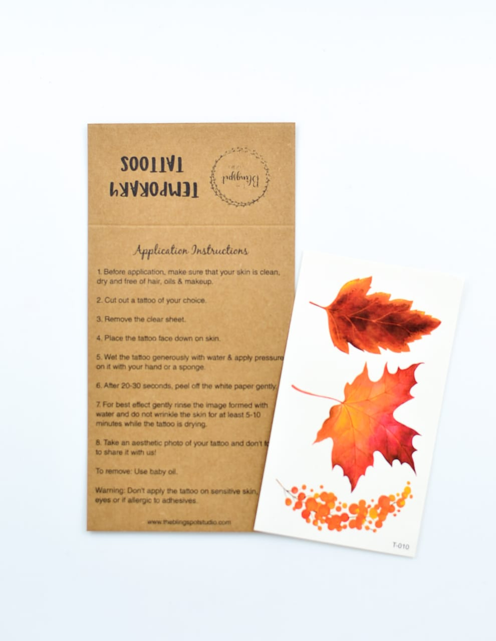 Autumn Leaves Temporary Tattoos