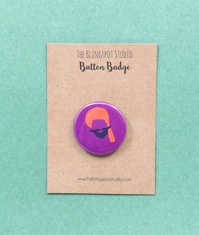 Moustache Badge