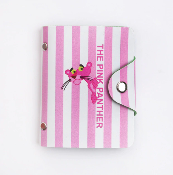 Pink Panther Stripes Card Holder