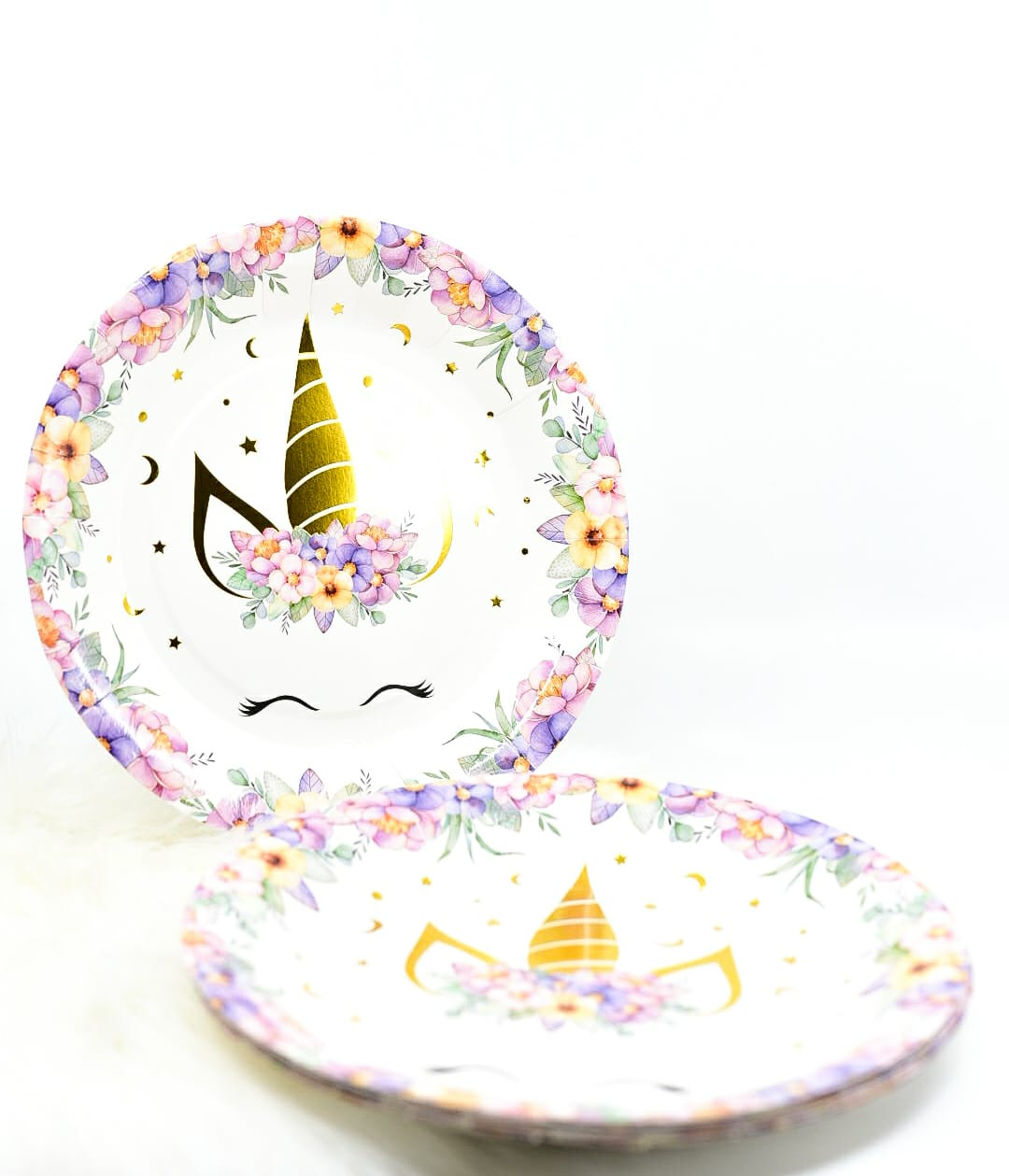 Dream Floral Unicorn Plates Set Of 10