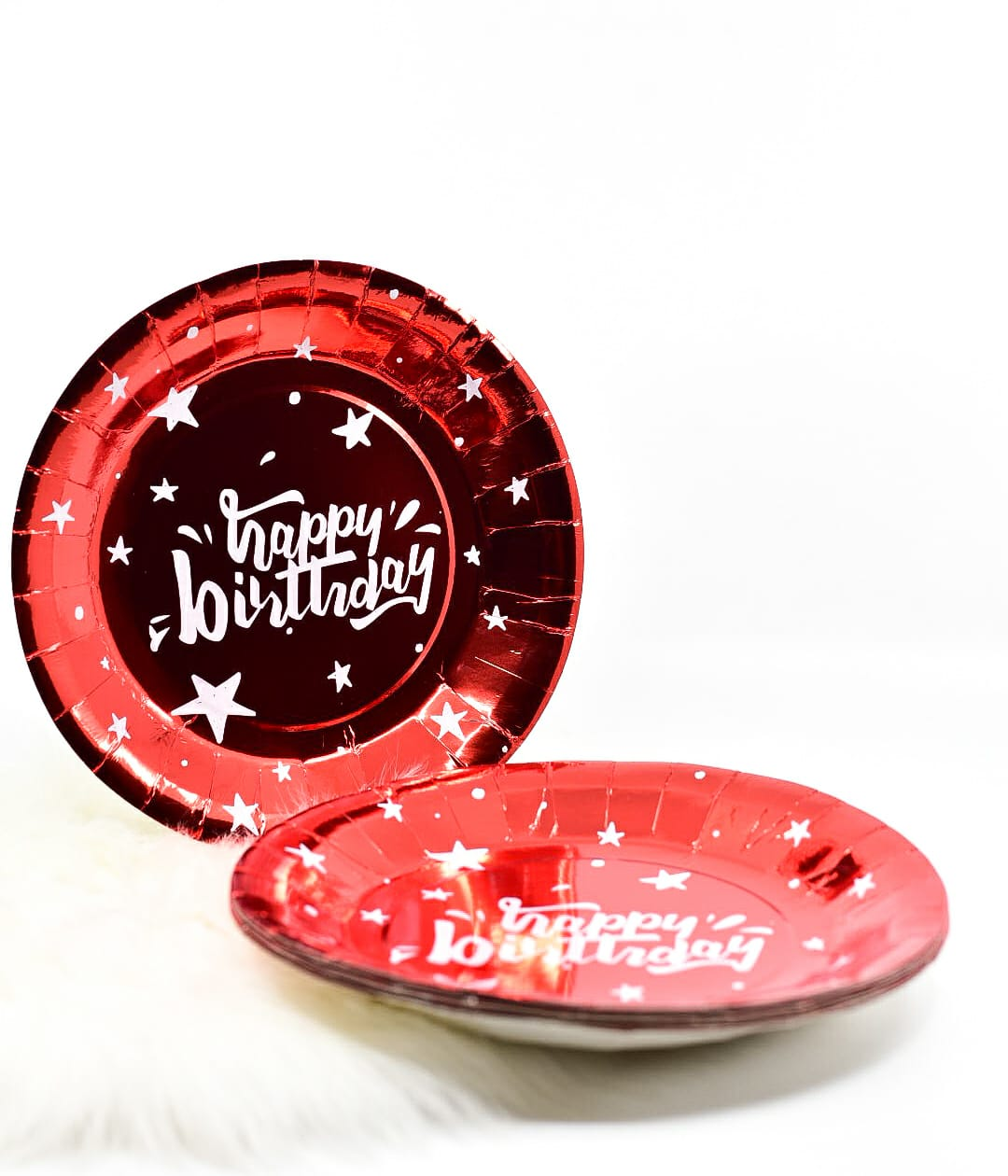Happy Birthday Red Plates Set Of 10
