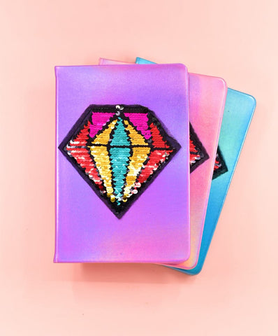Holo Neon Diamond Hard Cover Journal