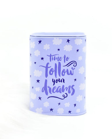 Time To Follow Your Dream Metal Money Box